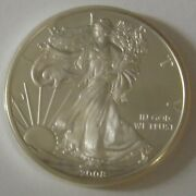 2008 American Silver Eagle Dollar - Nice Bu Condition In Kointain Capsule 104