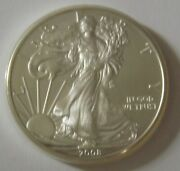 2008 American Silver Eagle Dollar - Nice Bu Condition In Kointain Capsule 106