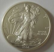 2008 American Silver Eagle Dollar - Nice Bu Condition In Kointain Capsule 107
