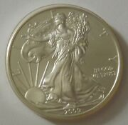2009 American Silver Eagle Dollar - Nice Bu Condition In Kointain Capsule 109