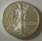 2009 American Silver Eagle Dollar - Nice Bu Condition In Kointain Capsule 110