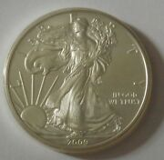 2009 American Silver Eagle Dollar - Nice Bu Condition In Kointain Capsule 111