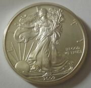 2009 American Silver Eagle Dollar - Nice Bu Condition In Kointain Capsule 112