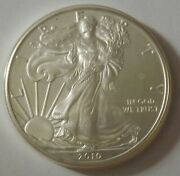 2010 American Silver Eagle Dollar - Nice Bu Condition In Kointain Capsule 115