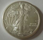 2010 American Silver Eagle Dollar - Nice Bu Condition In Kointain Capsule 116