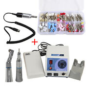 Dental Marathon 35k Rpm Micromotor N7/contra Angle Straight /100brushes Cups
