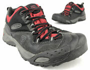 Keen Marshall Menandrsquos Shoes Size 7.5 Black Red Waterproof Lace Up Work Hiking Low