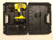 """Dewalt 18v Dc970 1/2"""" Cordless Drill, Dc 9098 Battery, Dw9116 Charger And Case."""