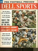 1962 Dell Sports Magazine Pro Football Preview Sept. Jim Brown Cleveland 73946