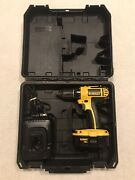 Dewalt 18v Dc720 1/2 Inch Cordless Drill Driver With Battery, Charger And Case.