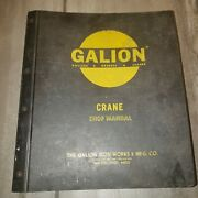 Large Galion Shop Manual For Various Graders Rollers Crane