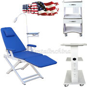 Denal Simple Type Folding Chair Rechargeable Led Light /mobile Tool Cart Trolley