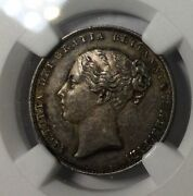1865 Die 53 Gt Britain Shilling Ngc Ms62 Mint State Coin Original Toner Nice