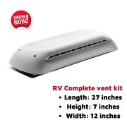 Rv Trailer Refrigerator Roof Vent Kit Cap And Base Air Ventilation Cover Trailer