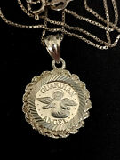 Italy .925 18 Necklace With My Own Guardian Angel .999 Coin W/.925 Bezel Unique