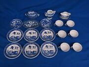 Japan Blue Willow Childand039s Tea Set Dishes 18 Pieces Good Condition