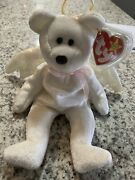 Ty Beanie Babies Oddity Brown Nose Halo The Angel Bear Toy