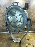Vintage Wwii Us Navy Ship Searchlight Ww2 Usn Search Light / Steampunk Lamp