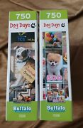 Lot Of 2 Jigsaw Puzzles - Dog Days New 750 Pieces Each