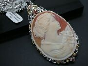 Michael Valitutti Gems En Vogue Shell Cameo Sterling Enhancer Pendant And Chain