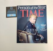 Donald Trump Signed Time Magazine May 22 2017 Autograph Rare With Verified Coa