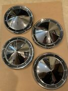 Beautiful Set Of Four 1960-1962 Ford Galaxie Dog Dish Chrome 10 1/2 Hubcaps