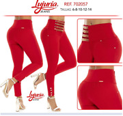 Lujuria Jeans Colombianos Authentic Colombian Push Up Levanta Cola Red