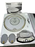 White Irobot Roomba 530 Robotic Vacuum Cleaner Manual Brushes Box For Parts