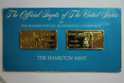 Two 1 Troy Ounce New York And North Carolina Gp 999 Fine Silver Bars Num6191
