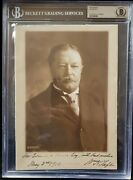 William Howard Taft President Signed Autograph Photo Beckett Bas Authentic