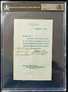 William Howard Taft President Signed Autograph Letter Beckett Bas Authentic