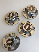 Chevy Truck Rally Center Caps 5 On 5 Lugs Original Set Of Four