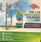 Flame King Propane Refill Kit And 1lb Refillable Cylinder Save Money And Landfills