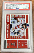 2017 Contenders Draft Picks Game Day Tickets Patrick Mahomes Rookie Psa 9 Mint
