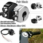 Cnc 3 Buttons Latch And Momentary Switch Handlebar Switch Motorcycle Cafe Race 2x