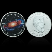 Canada Maple Leaf Universe Silver Plated Coin Challenge Metal Coins 11not Real