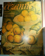 Vintage And Authentic And Large 1974 Cezanne Print On Board From Paris