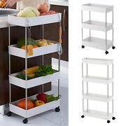 Storage Cart Mobile Kitchen Storage Units With 4 Wheels For Bathroom Laundry Kit