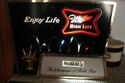 Vintage Miller High Life Sign Beer Clock Bouncing Ball Motion Light As-is