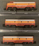 Emd F7a/b Daylight Passenger Southern Pacific Sp 354/541/545 N Scale Diesel