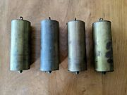 Set Of 4 Guaranteed Old Authentic Vienna Clock Brass Weight Shells