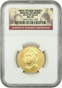 2010-w Abigail Fillmore 10 Ngc Ms70 - First Spouse .999 Gold