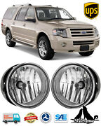 For 2007-2014 Ford Expedition Ranger Fog Lights Driving Bumper Lamps Pair Clear
