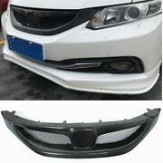 Car Front Bumper Grille Grill Cover Mesh For 2013-15 2014 9th Honda Civic Sedan