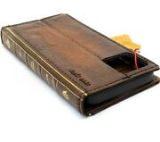 Genuine Leather Case For Apple Iphone 13 Pro Max Bible Book Wallet Vintage Cover