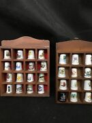 Thimble Display Case With 28 Thimbles X 2 Display Cases Unique Lovely