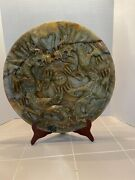 Natural Jade Double Dragon Plate