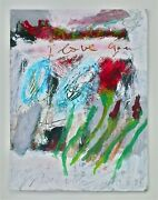 Cy Twombly -- A 1990s Signed Abstract Original Gouache Painting Rome Roma