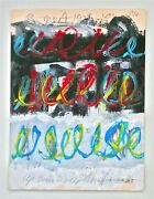 Cy Twombly -- A 1999 Abstract Original Signed Gouache Painting Provenance Rome
