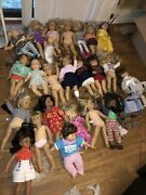 American Girl Doll Lot Of Dolls Pleasant Company Bitty Baby Mostly American Girl